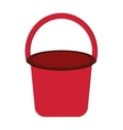 single bucket icon vector image