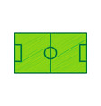 soccer field lemon scribble icon on white vector image