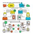 social network communication poster vector image