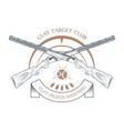 sporting clay skeet vector image vector image