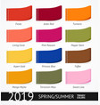 spring and summer trendy colors label set vector image