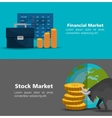 stock financial market design vector image
