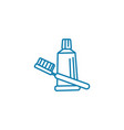 teeth cleaning linear icon concept teeth cleaning vector image