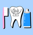 toothpaste and healthy tooth dentist vector image