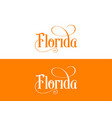 typography of the usa florida states handwritten vector image vector image