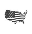 usa map flag us icon map flag us icon vector image