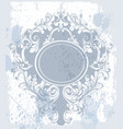 vintage baroque ornament classic old vector image