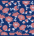 vintage blossom hand drawn seamless pattern vector image vector image