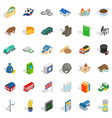 wealth icons set isometric style vector image vector image