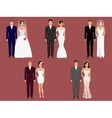 wedding apparel garment different costumes vector image