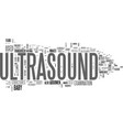 what is an ultrasound text word cloud concept vector image vector image