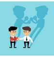 Business boxing shadow vector image