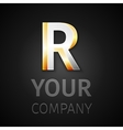 abstract logo letter R vector image vector image