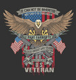 american eagle veteran emblem vector image vector image