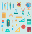 Back to school things color vector image