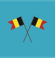 belgium flag icon in flat design vector image