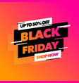 black friday sale banner with colorful gradient vector image