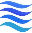 Blue water symbol element set vector image vector image