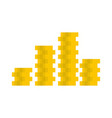 bundle coin icon flat style vector image vector image