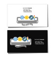 business card for air conditioning maintenance vector image vector image