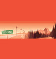 california nature landmarks and landscape scene vector image vector image