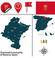 chartered community of navarre spain vector image vector image
