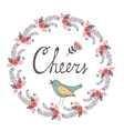 Cheers concept card vector image