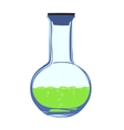 chemistry flask vector image vector image