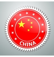 China flag label