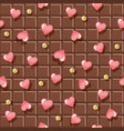 chocolate bar seamless background decorated vector image