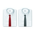 Classic men shirts set with red and black ties vector image vector image