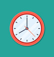 clock icon in flat style timer isolated on green vector image vector image