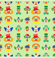 clown cute characters performer carnival actor vector image vector image