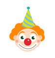 clown icon flat style isolated on white vector image