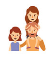 colorful caricature half body family with short vector image vector image