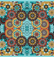 colorful ornamental floral decorative pattern vector image vector image