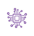 cpu icon processor technology vector image vector image