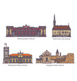 estonia building landmarks castle or palace set vector image
