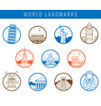 famous world landmarks travel and tourism concept vector image vector image