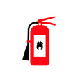 fire extinguisher cartoon flat colored icon with vector image vector image