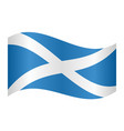 flag of scotland waving on white background vector image vector image
