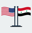 flag of united states and syriaflag stand vector image