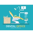 flat dentist office design background vector image vector image