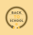 flat icon on background back to school pencil vector image vector image