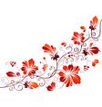 Floral vintage corner vector image