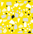 geometrical particles multicolor seamless pattern vector image