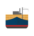 global shipping icon with cargo ship vector image vector image