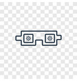 goggles concept linear icon isolated on vector image