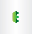 green letter e logotype design vector image