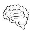human brain organ think idea isolated linear style vector image